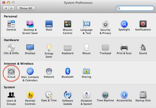 iCloud system