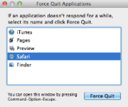 How to force quit an application in Mac